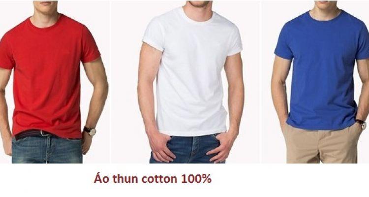 May đồng phục áo thun cotton