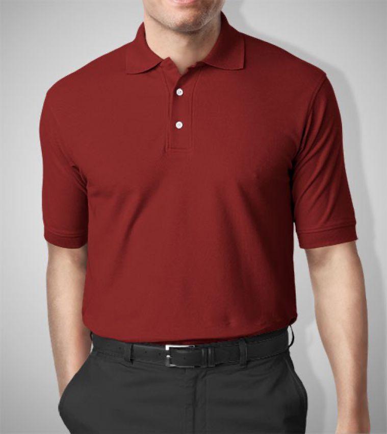 Áo thun đồng phục màu đỏ đô
